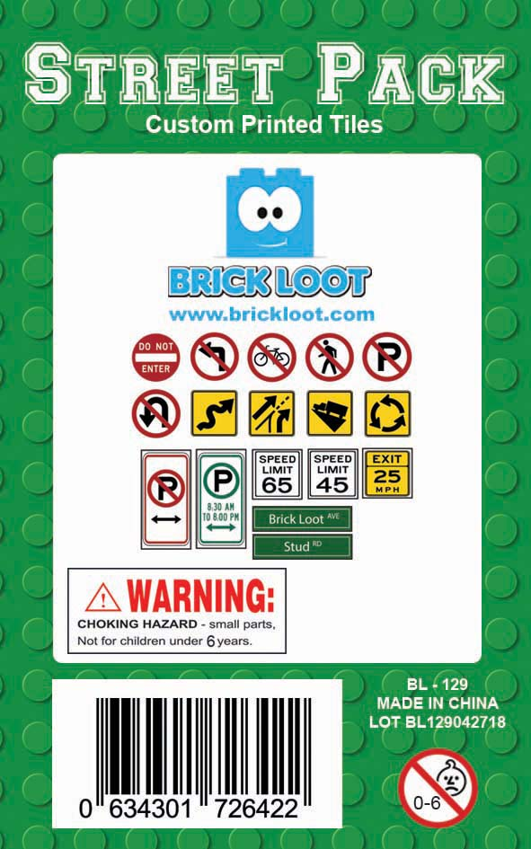 Brick-Loot-Custom-LEGO-Compatible-Tile-Pack-Street-Signs