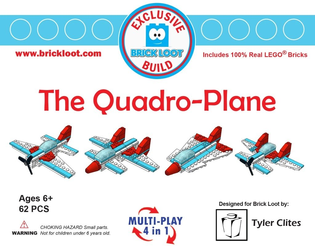Exclusive-Brick-Loot-Build-Custom-LEGO-Set-100%-LEGO-Bricks-Quadro-Plane