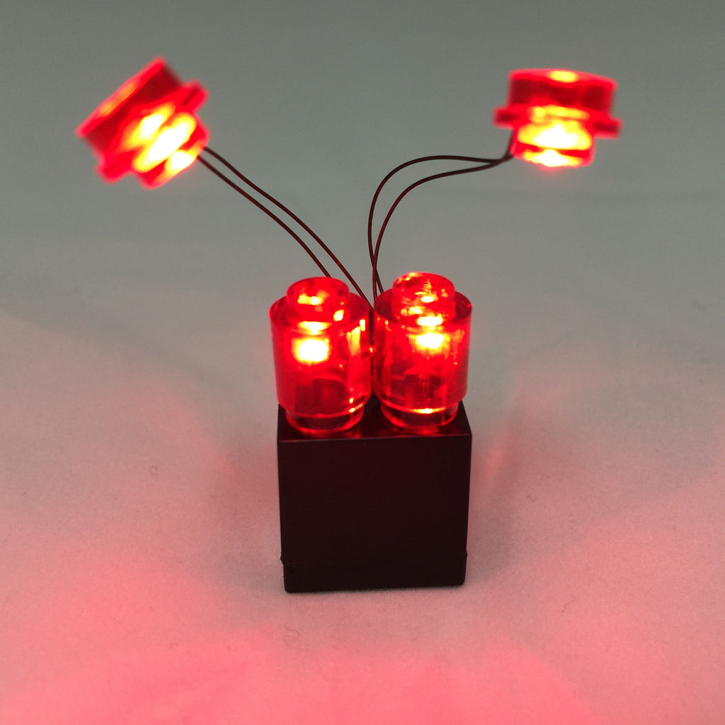 LED Iron Man Lights Red with 2x3 Battery Brick