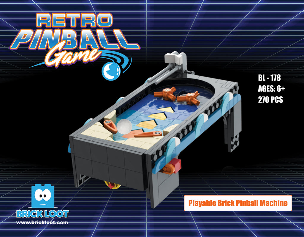 Retro Pinball Game Brick Set