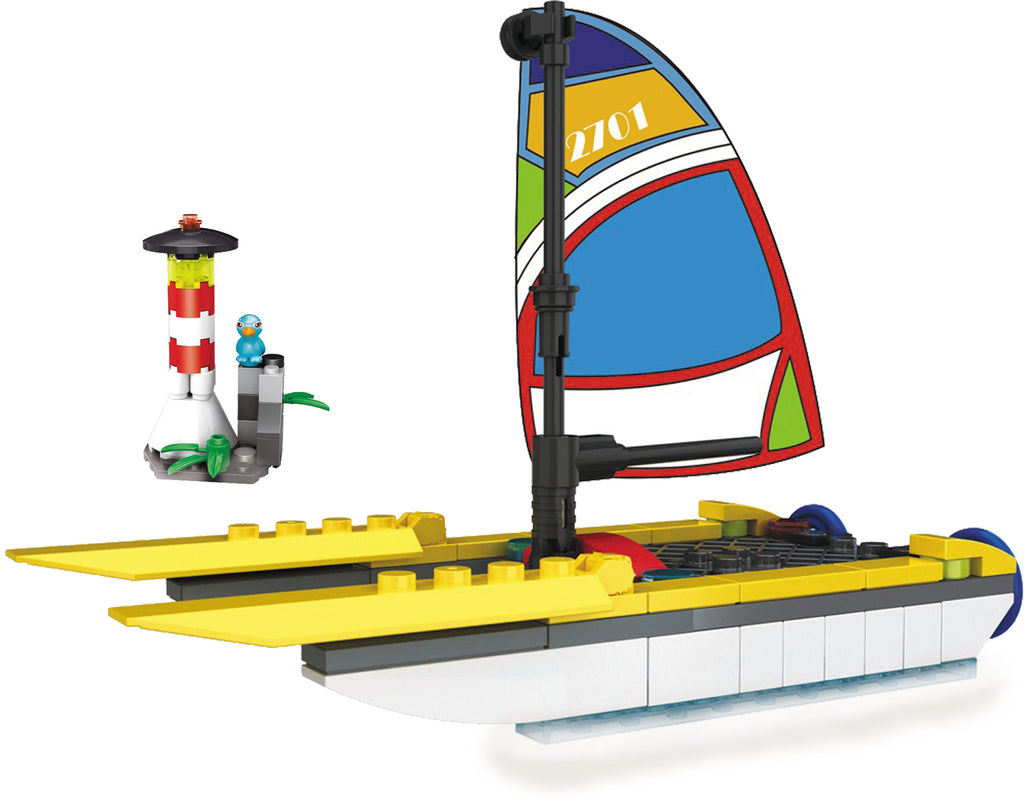 Mini City - Summer Fun Sail Boat and Lighthouse