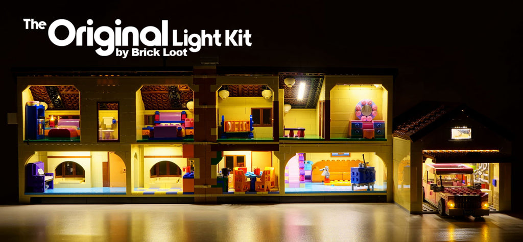 LED Lighting kit for LEGO 71006 The Simpsons™ House