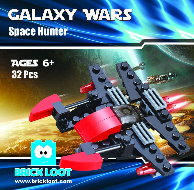 Brick-Loot-Exclusive-Galaxy-Wars-Space-Hunter-fighter-100%-LEGO®-Compatible