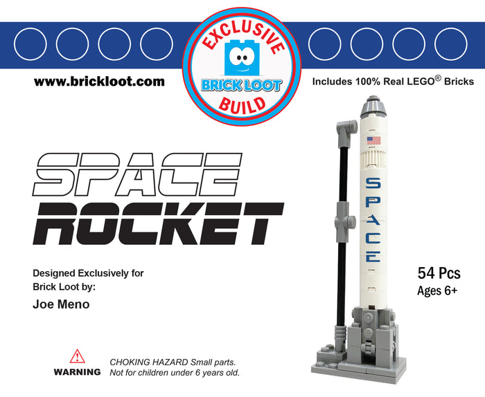 Exclusive Brick Loot Build Space Rocket by Joe Meno – 100% LEGO Bricks