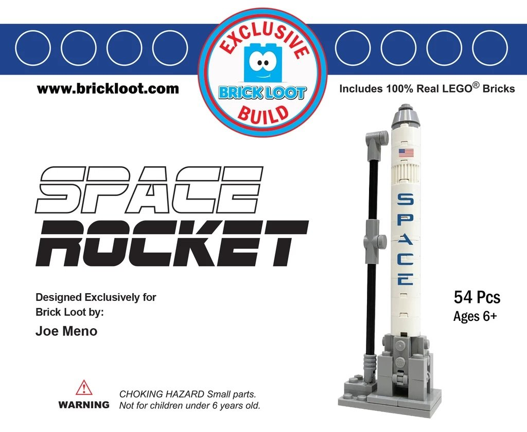Exclusive-Brick-Loot-Build-Custom-LEGO-Set-100%-LEGO-Bricks-Space-Rocket