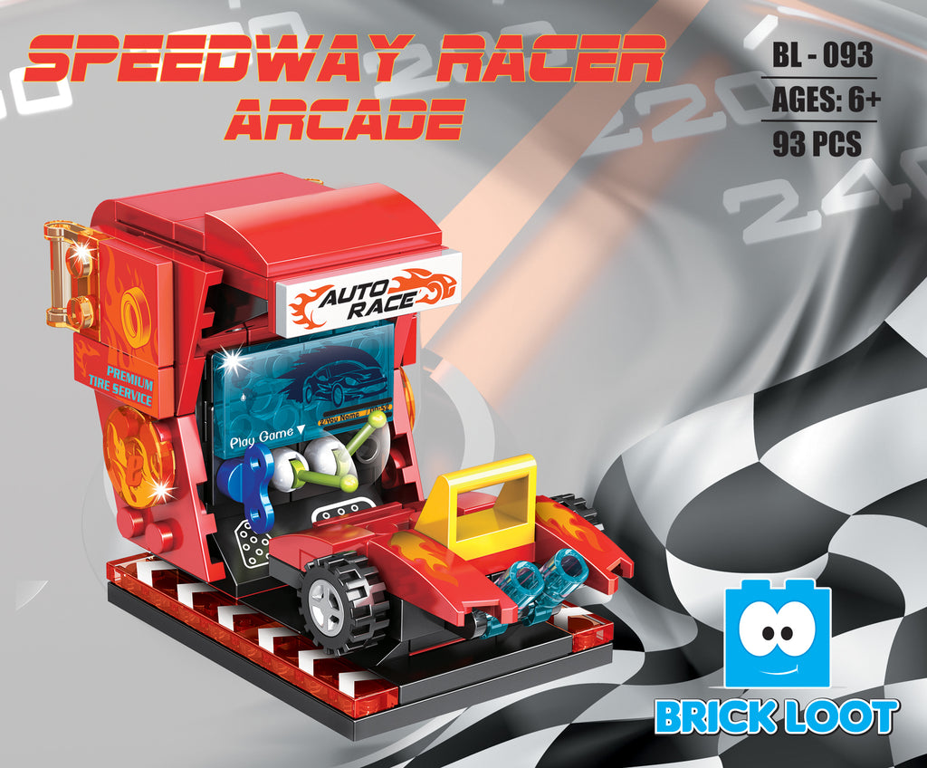 Brick-Loot-Speedway-Racer-Arcade-100%-LEGO-Compatible-Bricks