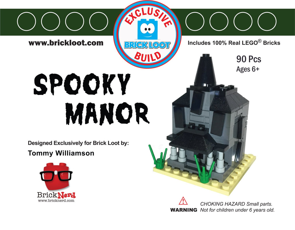 Exclusive-Brick-Loot-Build-Custom-LEGO-Set-100%-LEGO-Bricks-Spooky-Manor