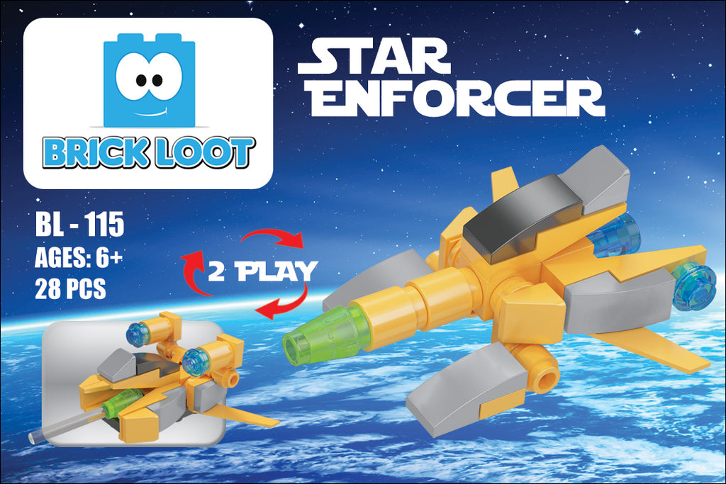 Brick-Loot-Exclusive-Mini-Star-Enforcer-2-in-1-space-fighter-set-100%-LEGO®-Compatible