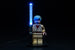 Brick Loot LED Blue Lightsaber - works with LEGO bricks and minifigures. Minifigure not included.