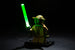 Brick Loot LED Green Lightsabers - works with LEGO bricks and minifigures. Minifigure not included.