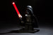 Brick Loot LED Red Lightsaber - works with LEGO bricks and minifigures. Minifigure not included.