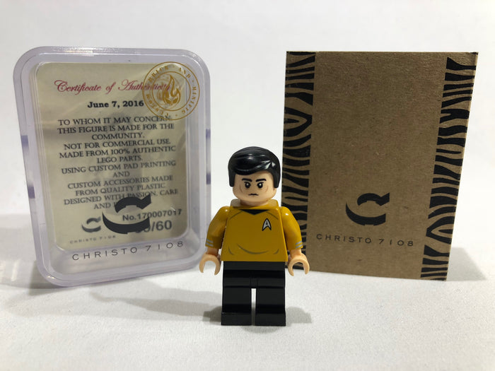 Christo Custom Pad Printed Star Trek Sulu LEGO Minifigure - LIMITED EDITION