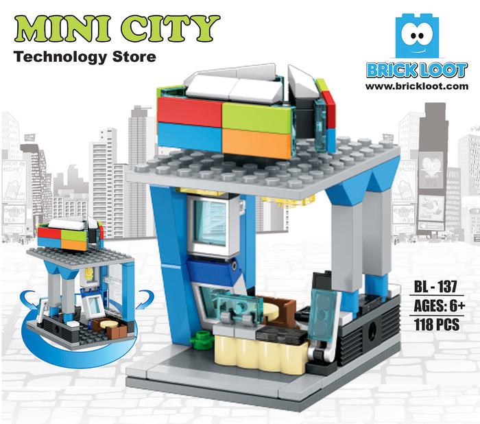 Brick-Loot-Custom-Brick-Set-Mini-City-Technology-Store