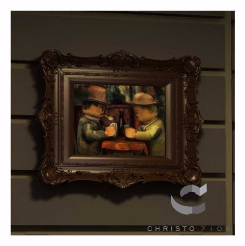 Christo Custom Fine Art Brick Painting  - The Brick Gamblers Painting - LIMITED EDITION