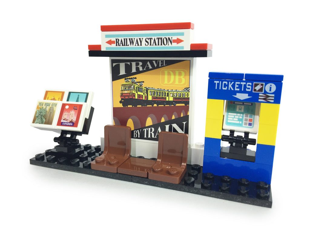 Brick-Loot-Railway-Train-Station-Custom-Kit-LEGO-Bricks