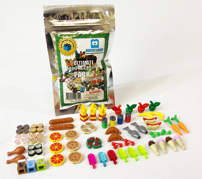 Toy Ultimate Food Accessory Pack - Major Brand Brick Compatible