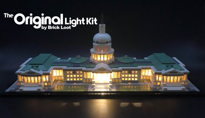 LED Lighting Kit for LEGO Architecture United States Capitol Building 21030
