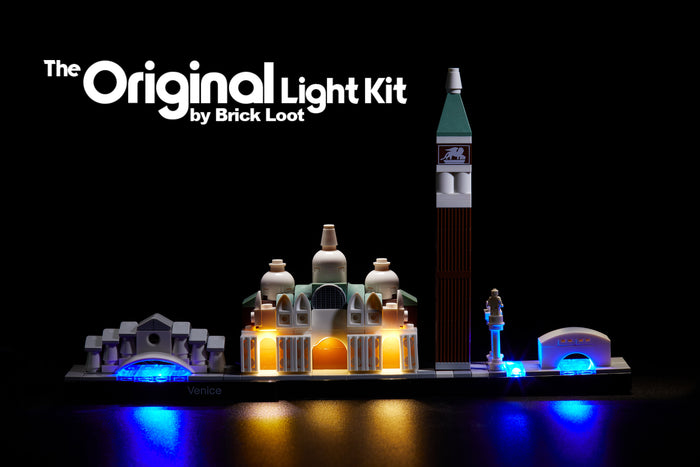 LED Lighting Kit for LEGO Architecture Venice Italy Skyline 21026