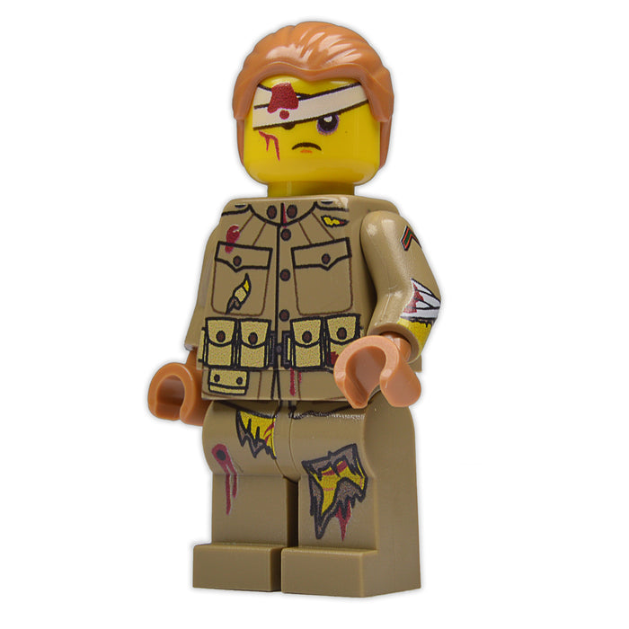 Brick Loot Exclusive Wounded Will Custom LEGO® Minifigure LIMITED EDITION