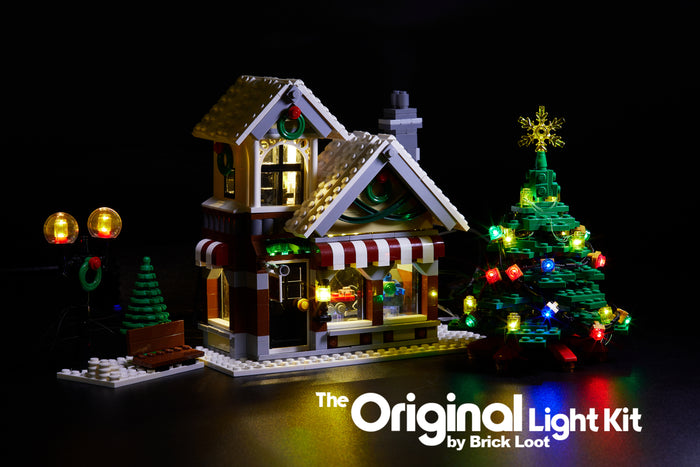 LED Lighting Kit for LEGO Winter Village Toy Shop 10199