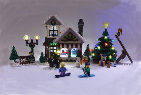 LED Lighting kit for LEGO 10249 Winter Toy Shop