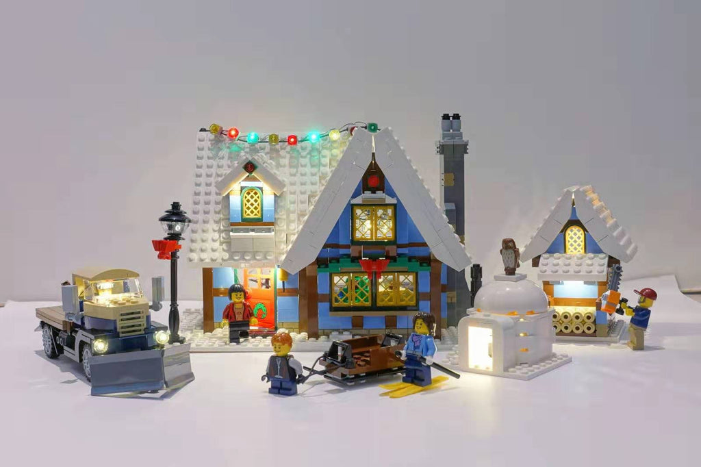 Brick Loot Original LED Light Kit for LEGO® Creator Expert Winter Village Cottage set 10229. Every part of this set is lit up with our kit. Beautiful for display and fun for play in the day and at night!