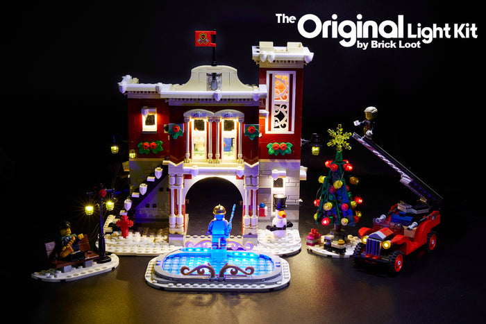 LED Lighting Kit for LEGO Winter Village Fire Station 10263