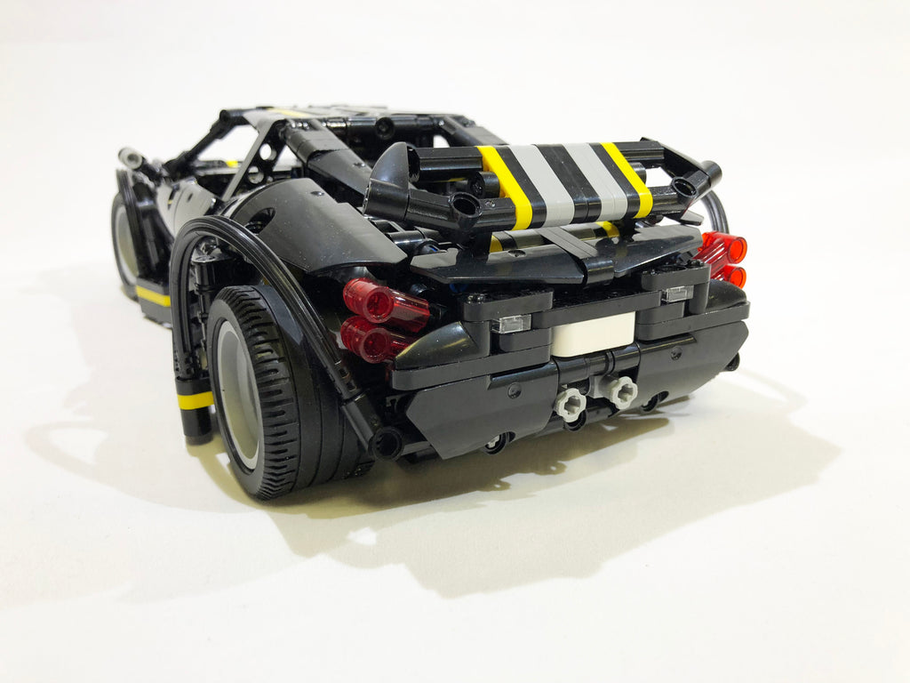 XINGBAO Technic Dream Car Series XB-070002 The Balisong Small Supercar. Brick model racecar - rear view. Sold by Brick Loot