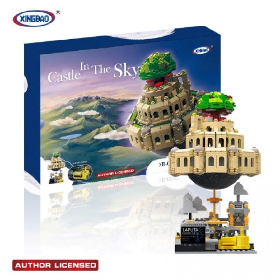 XINGBAO XB-05001 Castle in the Sky MOC. Sold by Brick Loot, offered with and without the box.