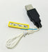 Brick Loot  Down Light for LEGO builds - Yellow 1x4/soft-white, yellowish- tint LED, powered through USB