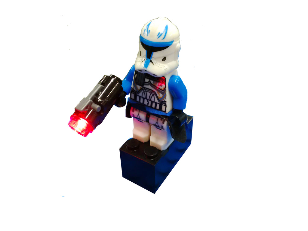 Brick Loot Original Light Kit LED Red Flashing Blaster Gun (Minifigure Not Included)