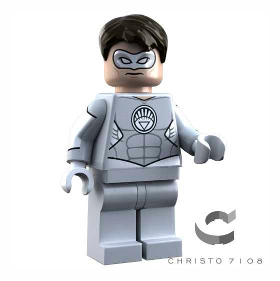 Christo Custom Pad Printed White Lantern Hal Jordan LEGO Minifigure - LIMITED EDITION