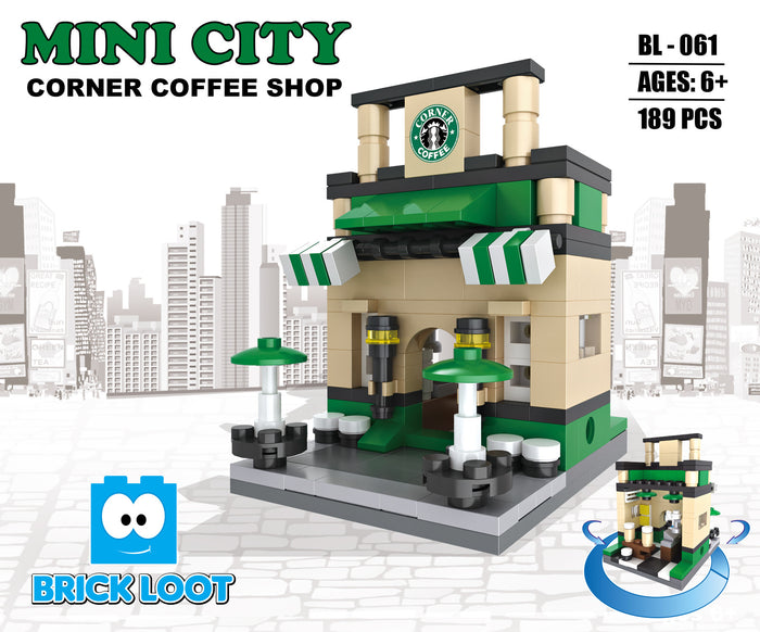 Brick-Loot-Custom-Brick-Set-Mini-City-Corner-Coffee-Shop