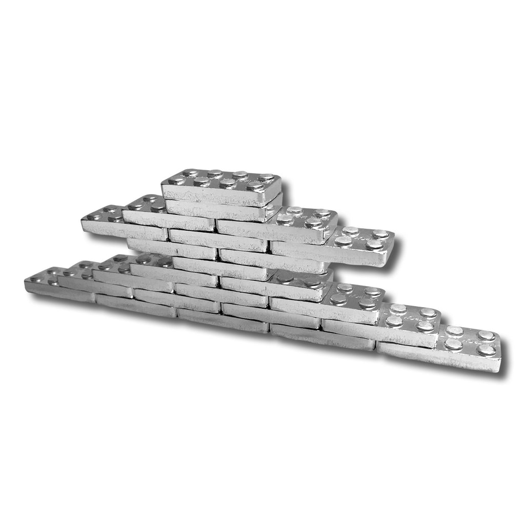 Brick-Loot-2x4-Solid-Silver-Bricks-1/2-ounce-stacked