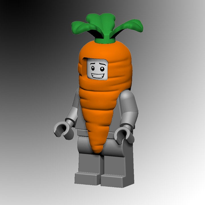 Custom Carrot Suit Costume for your LEGO Minifigure