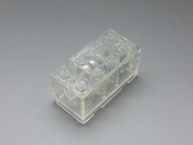 Brick Loot Clear Battery Brick for LEGO Sets . This clear brick is part of the 7 pack with all colors. Bricks are 2x4 colored bricks, compatible with LEGO and other major brands. Two (2) AG3 batteries, included.