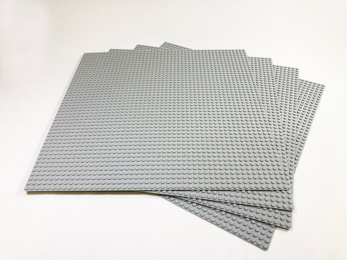 "Baseplate Bundle - 4 pack of GRAY or GREEN 48x48 - 15"" x 15"" Base Plates"
