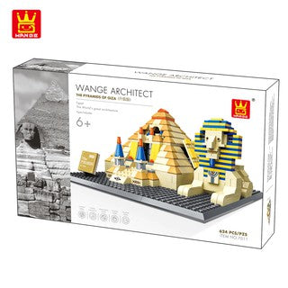 WANGE 4210 also known as WANGE 7011 Great Pyramids of Piza (Architect Series). Sold by Brick Loot. Offered with or without the box.