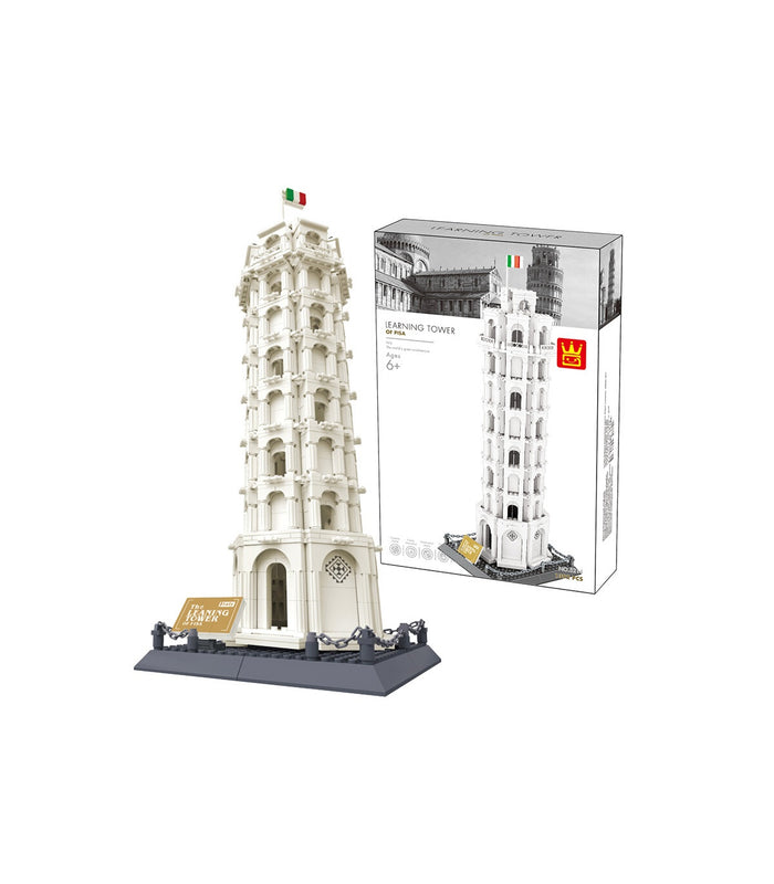 WANGE 5214 Intricate brick set of the Leaning Tower of Pisa. Box design may vary. Sold by Brick Loot with or without the retail box.