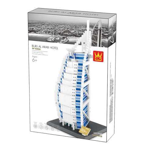WANGE 5220 also known as WANGE 8018 Dubai Burj Al Arab Hotel. Sold by Brick Loot with or without the retail box.