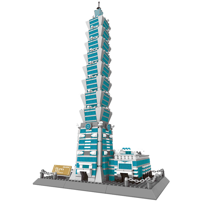 WANGE 5221 also known as WANGE 8019 The Taipei 101 of Taiwan China. Sold by Brick Loot, offered with or without the retail box.