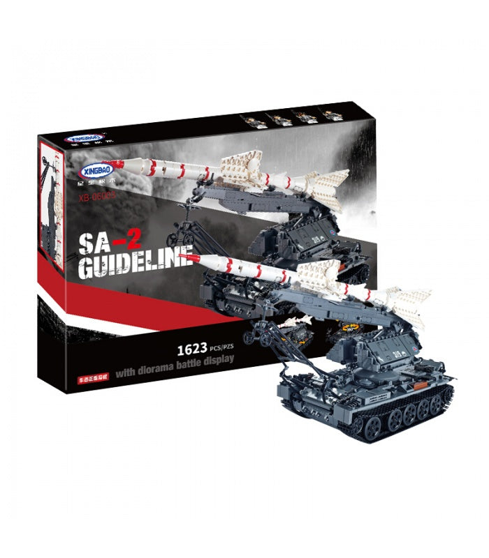 XINGBAO SA-2 Guideline Missile Launcher Tank. Sold by Brick Loot with or without the retail box.