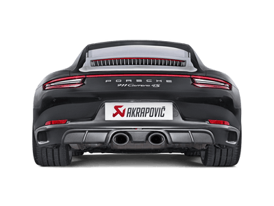 Akrapovič Slip-On Line (Titanium) For OE Non Sports Exhaust - Porsche 911 Carrera Cabriolet S/4/4S/GTS (991.2) 2016+