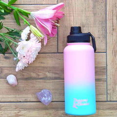 Dragons & Daisies Ombre Water Bottle