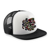 Dragons & Daisies black floral print Daring Spirit unisex monochrome Snapback trucker Hat for children