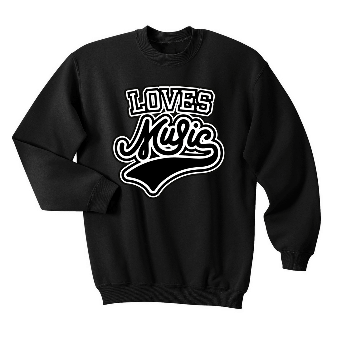 Black Loves Music Sweater