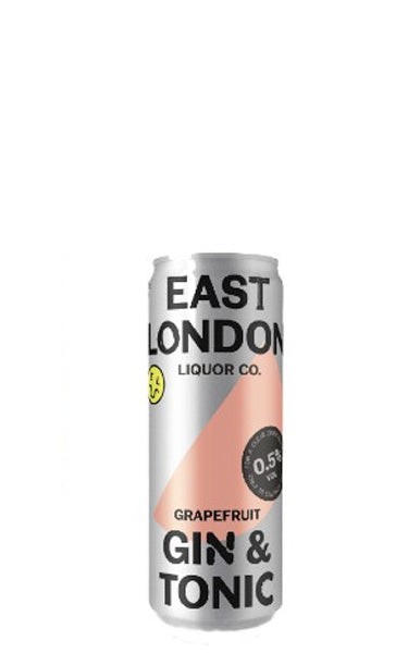 East London Grapefruit Gin & Tonic Low Alcohol