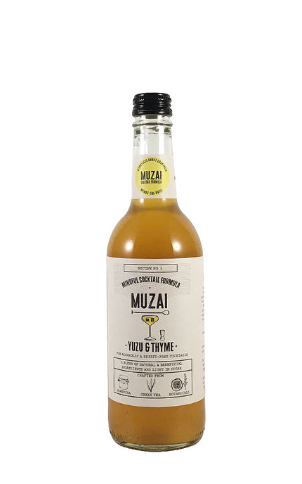 Muzai Yuzu & Thyme craft cocktail mixer