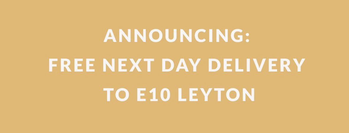 Free next day delivery to Leyton