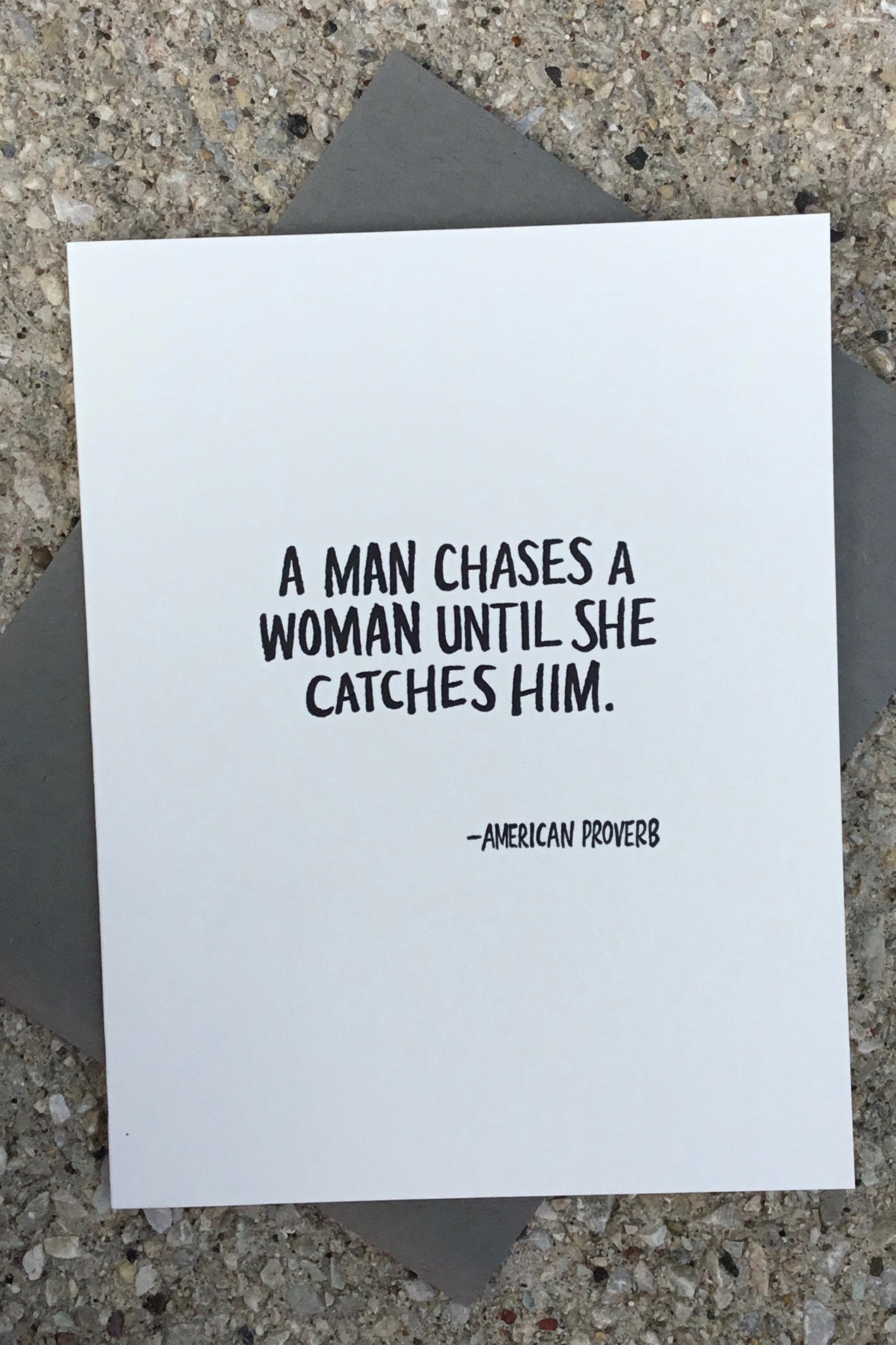 Chases woman a a man when The Simple